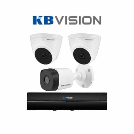 Tron bo 3 Camera KBVision 2MP chinh hang