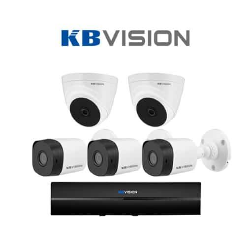 Tron bo 5 Camera KBVision 2MP chinh hang