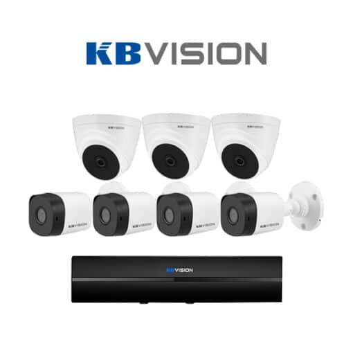Tron bo 7 Camera KBVision 2MP chinh hang