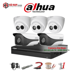 Trọn bộ 5 camera IP Dahua 2MP Chính Hãng