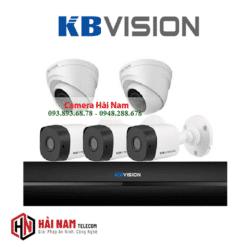 Trọn Bộ 5 Camera KBVision 2MP Chính Hãng