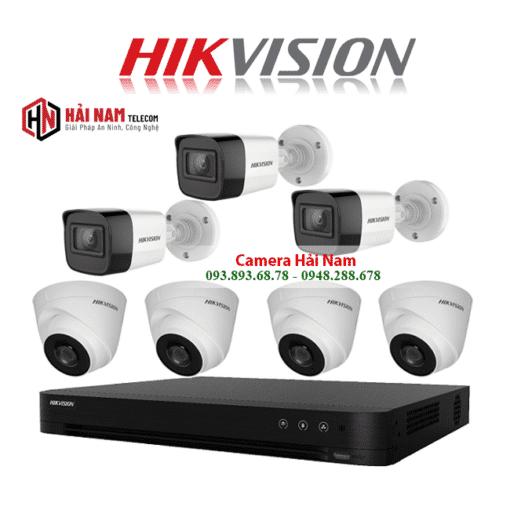 Trọn bộ 7 camera Hikvision 5MP Chính Hãng